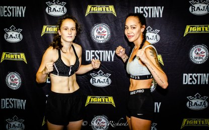 Whitney (right) at weigh in