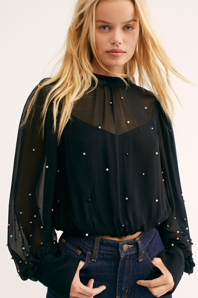 STYLECASTER | Going Out Tops | Last Friday Night Embellished Top