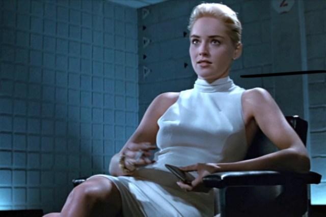 Catherine Tramell's Revealing Sheath Dress in 'Basic Instinct'