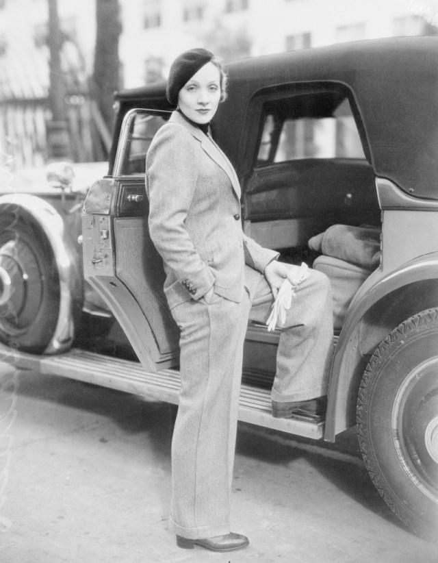 STYLECASTER | Best Celeb Women's Suits | Marlene Dietrich