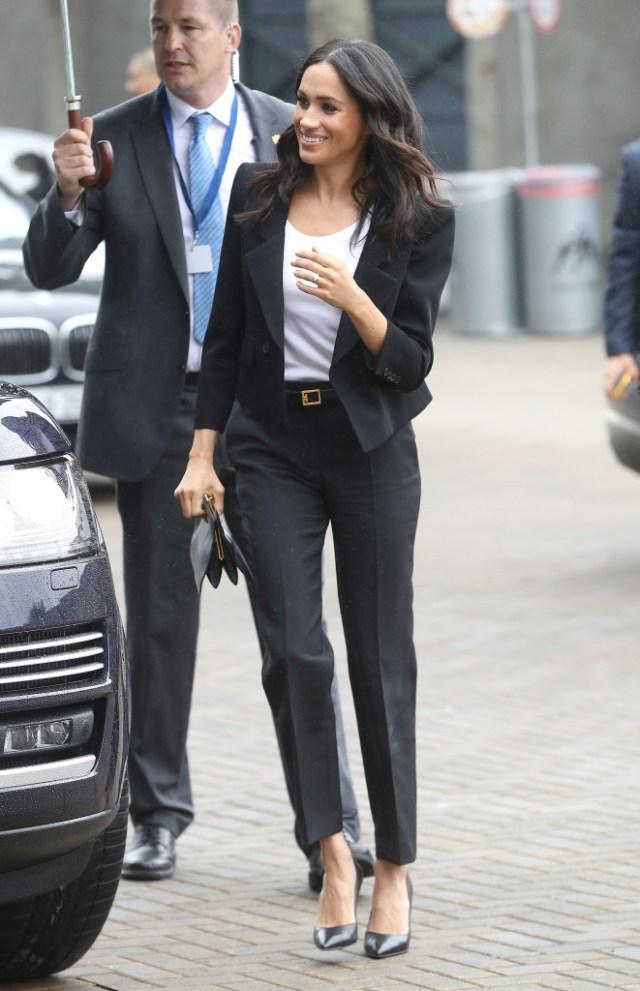 STYLECASTER | Best Celeb Women's Suits | Meghan Markle