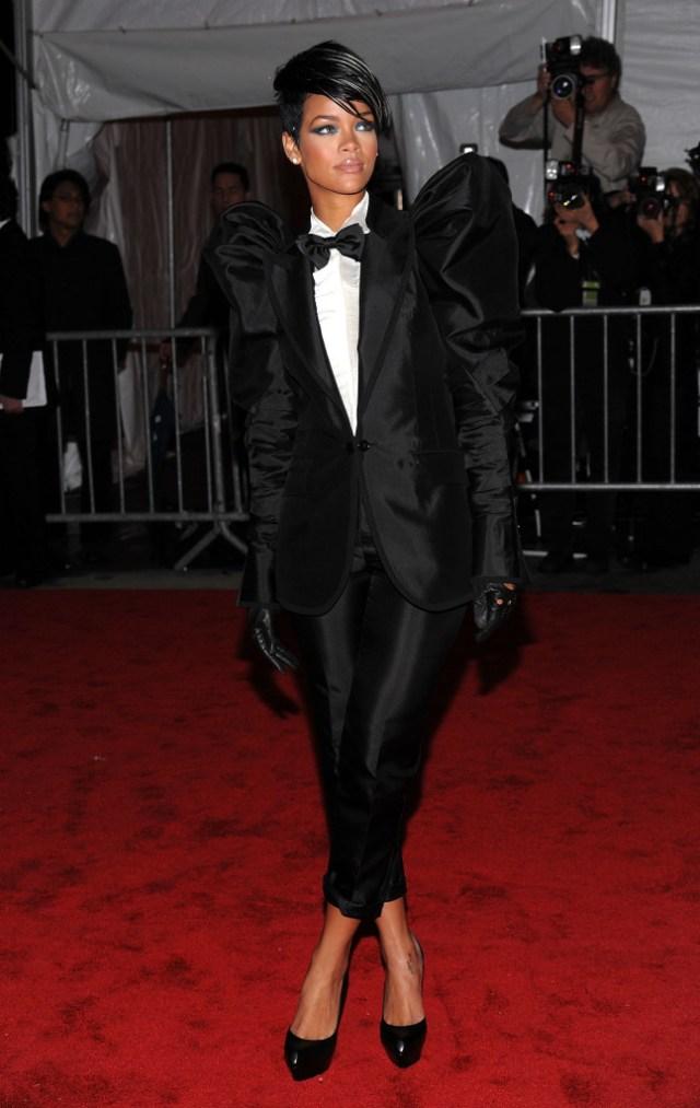 STYLECASTER | Best Celeb Women's Suits | Rihanna
