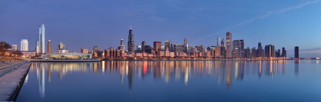 """Chicago sunrise 1"" by Daniel Schwen - Own work. Licensed under CC BY-SA 4.0"