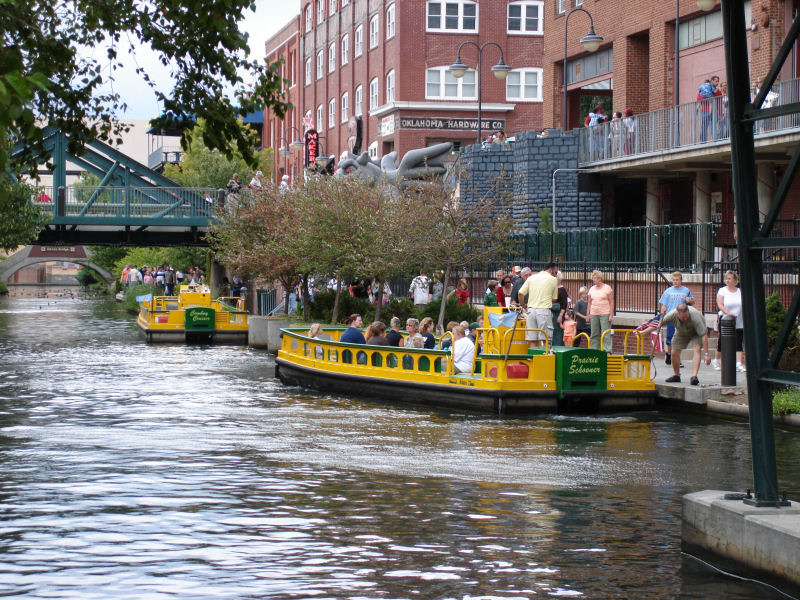 OKC_Bricktown_Canal_Water_Taxis_in_Oklahoma_City