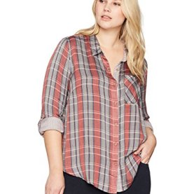 Plus Size Plaid Shirt
