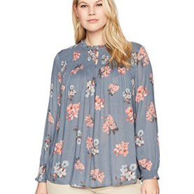 Rouched High Neck Blouse