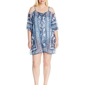 Cold Shoulder Chiffon Tunic Cover up