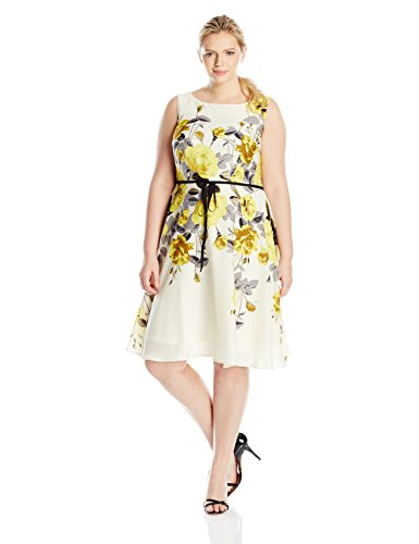 Fit Flare Floral Printed Dress