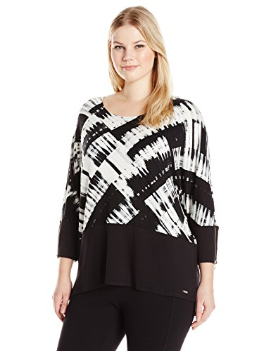 Plus Size Printed Dolman Top