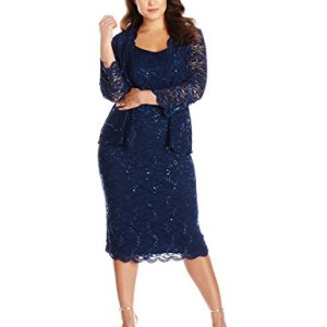 T-Length All Over Lace Jacket Dress