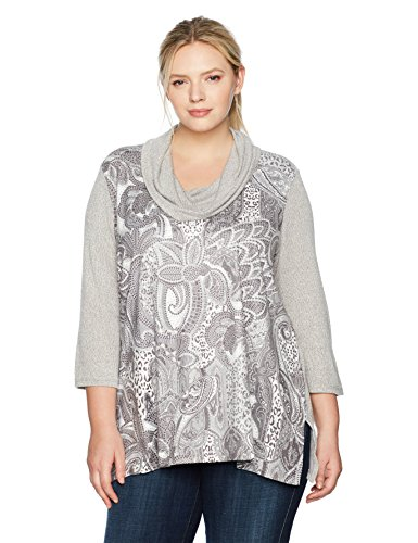 Mixed Printed Lightweight Suede top