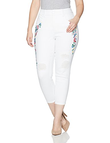 Embroidered Pencil Cut Jean