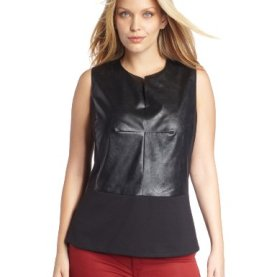 Women's Plus-Size Peplum Top