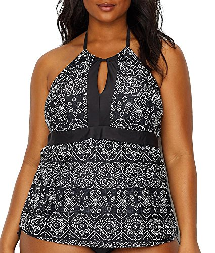Spot on Printed High Neck Tankini Top