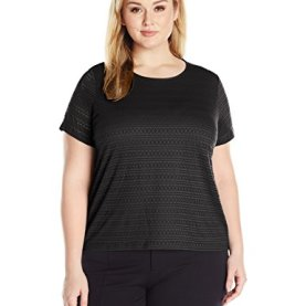 Plus Size Lace Knit Top