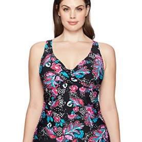 Floral Underwire Tankini Swimsuit