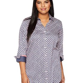 Painted Geo Wrinkle Free Tunic