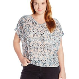 Plus Size Tie Front Top