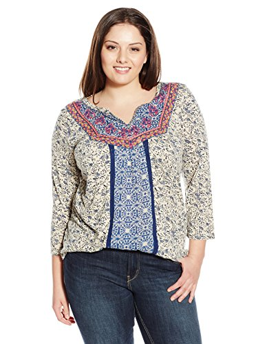 Embroidered-Bib Top
