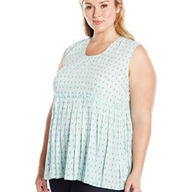 Plus Size Pleated Tank Top