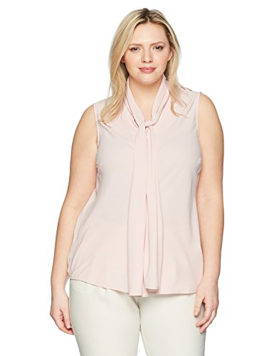 Solid Crepe Bow Blouse