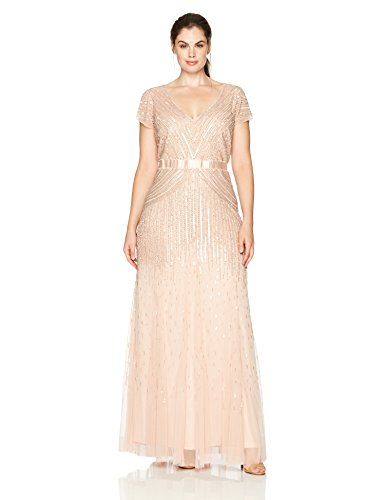 Long Cap-Sleeve Gown