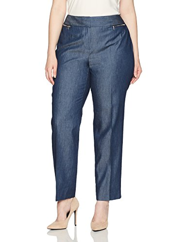 Denim Zip Pockets Slim Pant