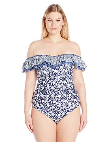 Ruffle Off The Shouler Swimsuit Tummy Control