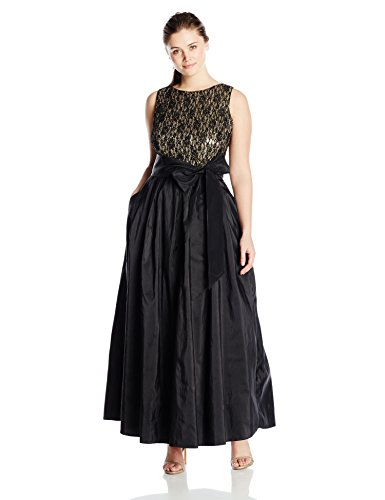Ball Gown with Sash At Waist