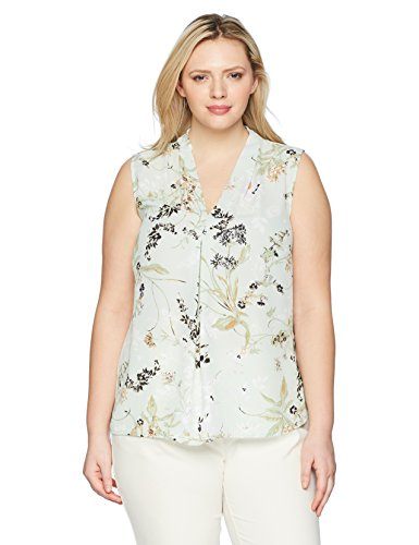 Printed Floral V Neck Blouse