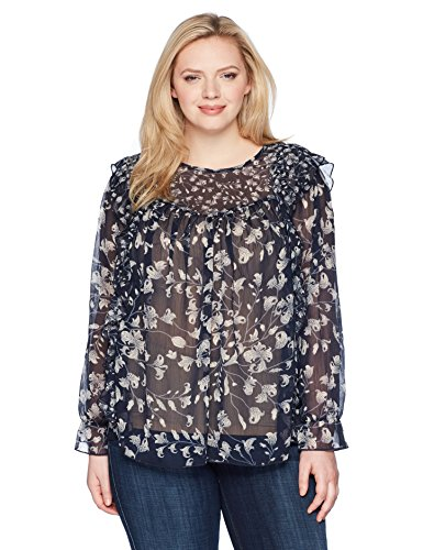 Ruffle Floral Top Blouse