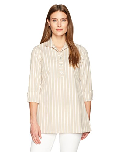 Dani Wide Stripe Non Iron Tunic