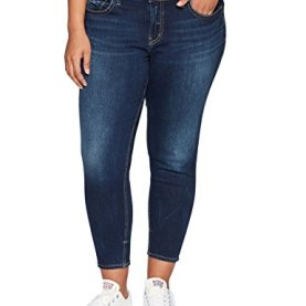 Curvy Fit Mid Rise Skinny Crop Jeans