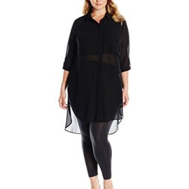 Long Sleeve Button Down Popover Dress