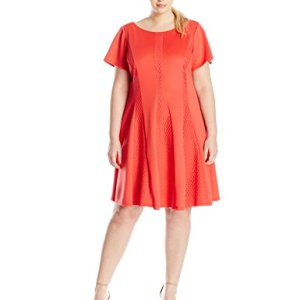 Fit and Flare Dress Cap Sleeves
