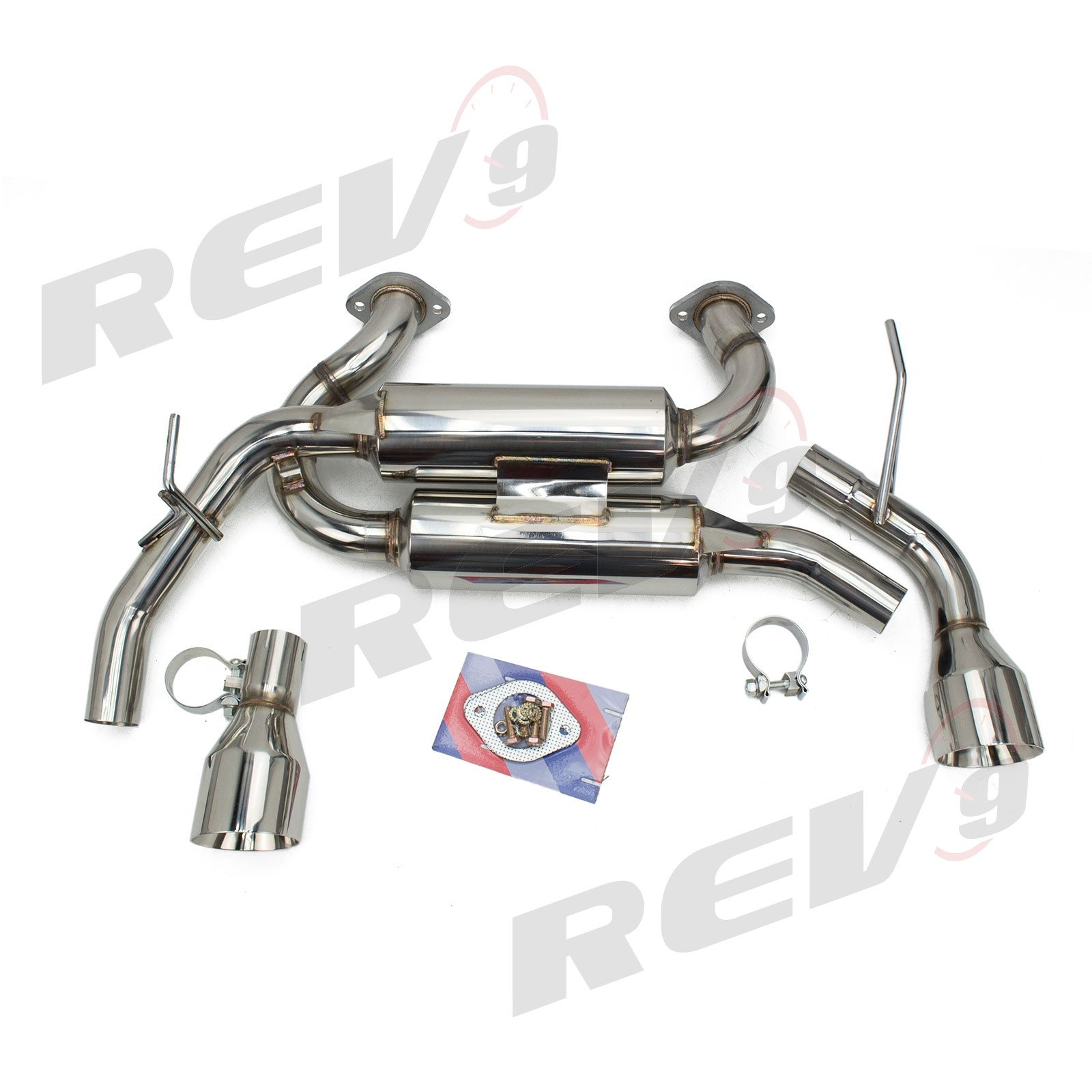 Rev9 FlowMaxx Stainless Axle-Back Exhaust 60mm Pipe