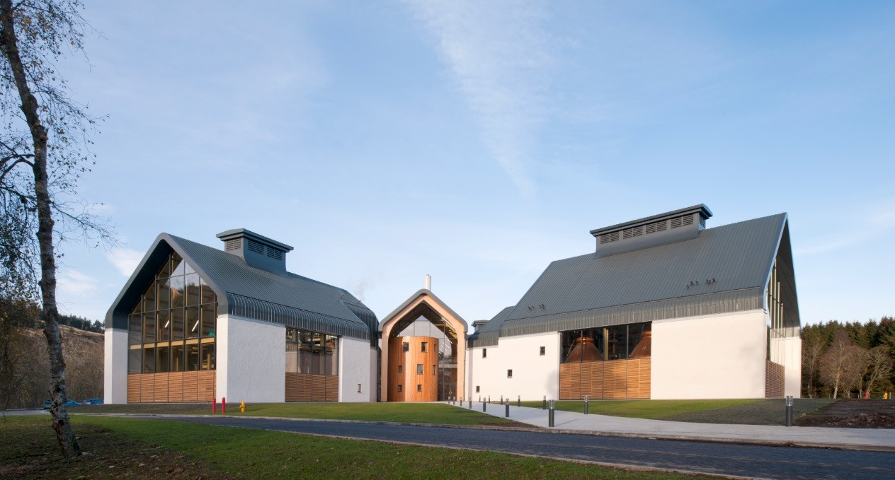 Dalmunach Distillery  RetailCommercialIndustrial  Scotlands New Buildings  Architecture in