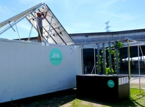 urban smart farm solar power