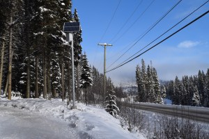 Pathway lighting in Sun Peaks, B.C.