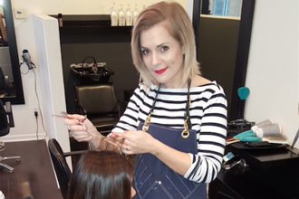 Hair tips and products for the busy mom with leading stylist Erica Wearing