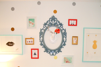 Easy DIY gallery wall for a kid's bedroom