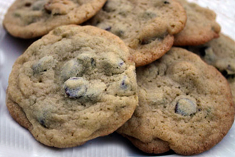 Oooey gooey chewy chocolate chip cookies