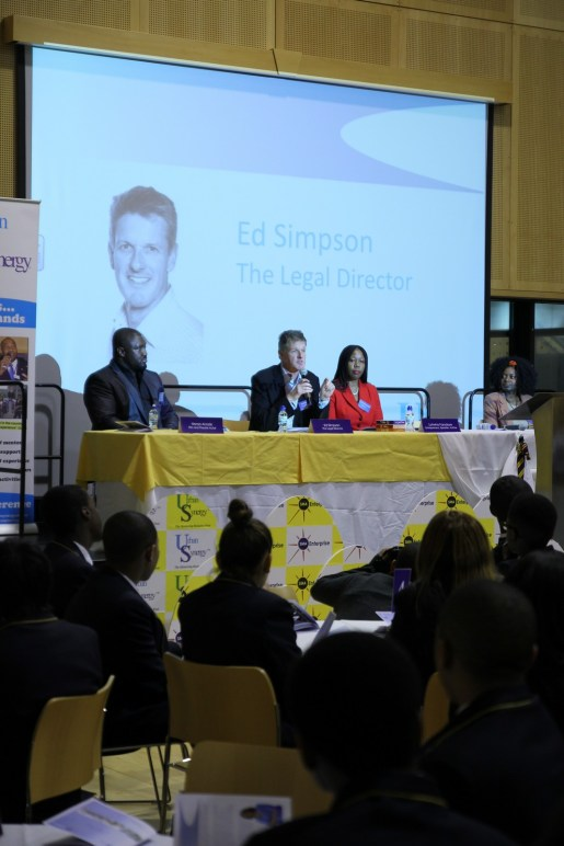 Ed Simpson at Urban Synergy Role Model Seminar, St Matthew Academy