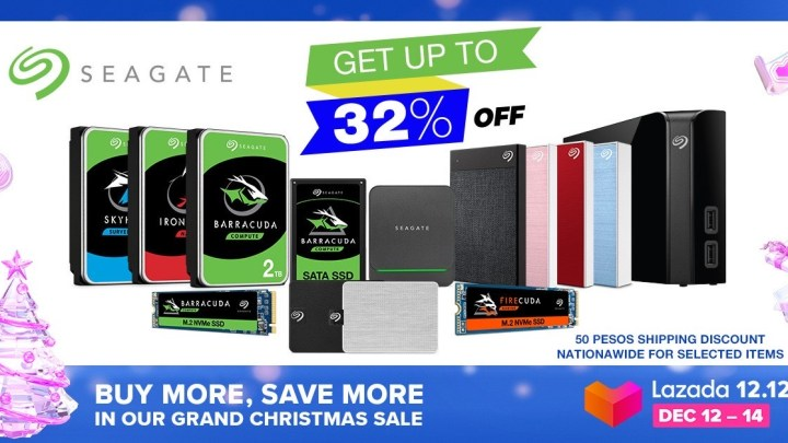 Seagate Joins Lazada 12.12 Grand Christmas Sale
