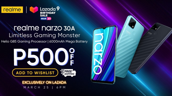 Realme Narzo 30A to Get Discounted Price at Lazada Birthday Sale