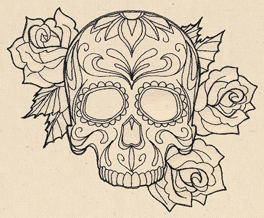 Sugar Skull Woman Tattoo Designs