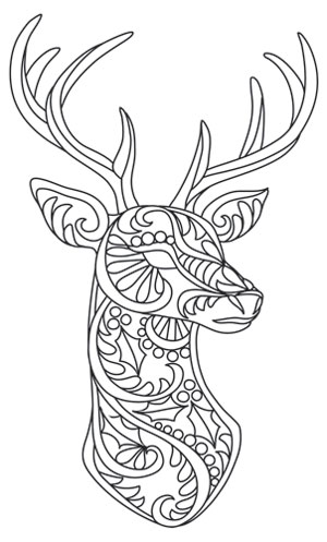Bohemian Reindeer Urban Threads Unique And Awesome