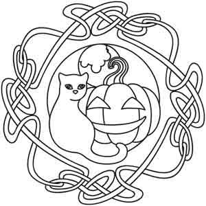 Pagan Samhain Coloring Pages Sketch Coloring Page
