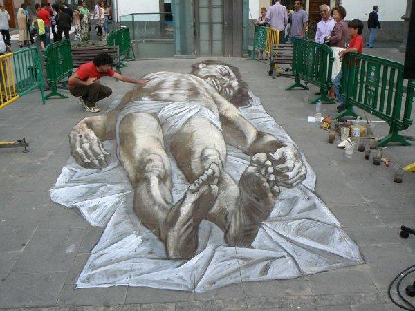 3d Graffiti-art - Illusion Graffiti Street Art Edgar Mueller Eduardo Relero Julien Beever