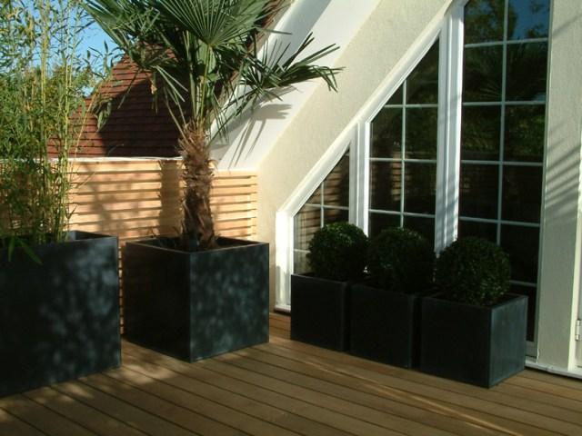 Contemporary Minimalist Balcony Design London Urban Tropics
